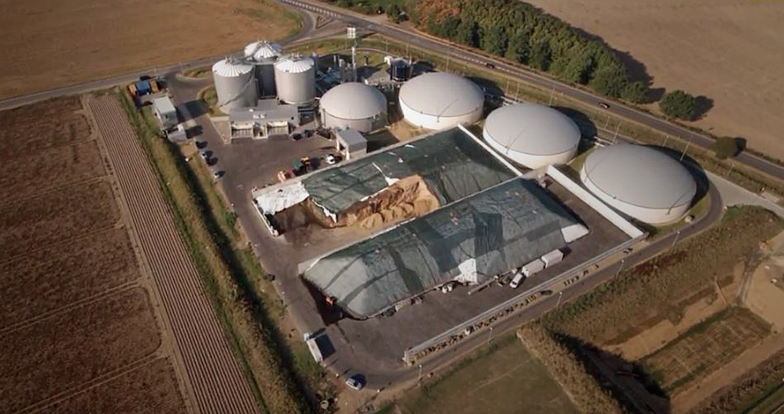 The concrete structures of the biogas production plant in Bergheim benefit from comprehensive protection against aggressive media.