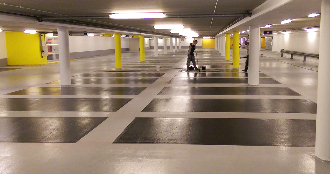 The floor coating work in the P3 Mikado multi-storey car park in Amsterdam was completed in just five days.